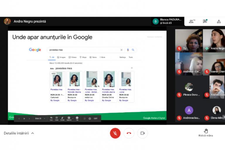 Atelier de carieră – întâlnire cu reprezentanții Atelierului Digital Google